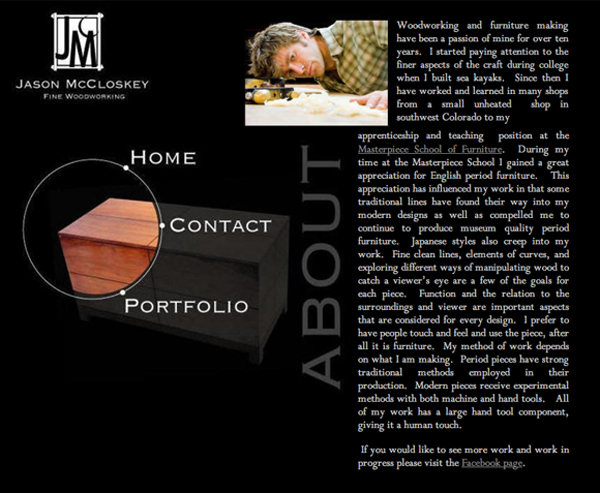 jason mccloskey fine woodworking website