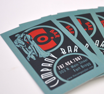 Company Bar Business Cards and Poster