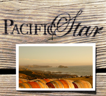 Pacific Star Winery Rack Card
