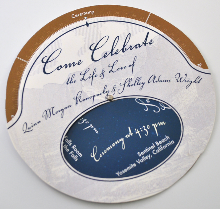 planisphere wedding invitation