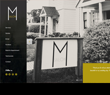 M Salon Website