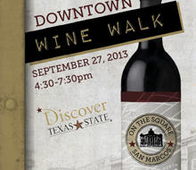 Wine Walk Passport – City of San Marcos, Texas