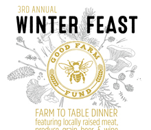 Good Farm Fund Winter Feast Poster and Menu