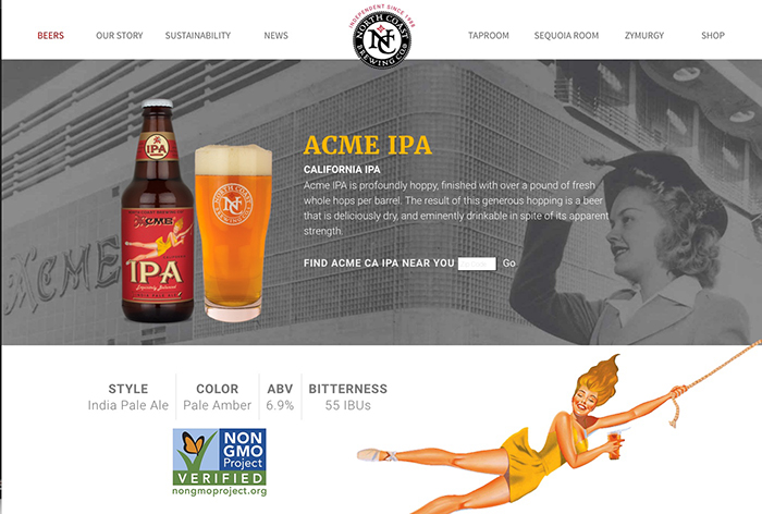 North Coast Brewing Company Website Design